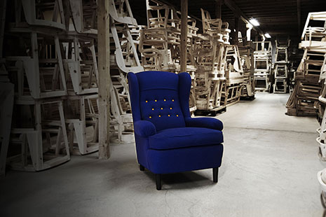 Armchair Häggbom at the factory in Tranås. Photo Lars Hoflund.
